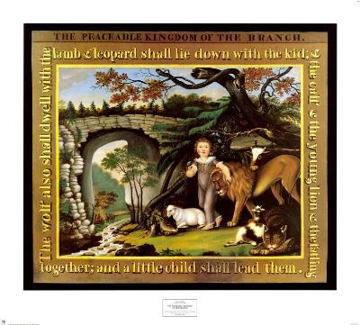 The Peaceable Kingdom of the Branch-Edward Hicks-Art Print