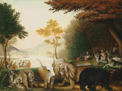 The Peaceable Kingdom-Edward Hicks-Giclee Print