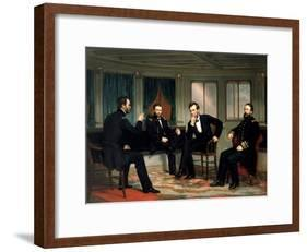 The Peacemakers-George P^A^ Healy-Framed Giclee Print