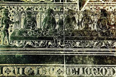 The Peacock Feast for King Edward III in 1349, Detail from Brass to Robert Braunche, 1364--Giclee Print