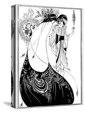 The Peacock Skirt-Aubrey Beardsley-Stretched Canvas Print