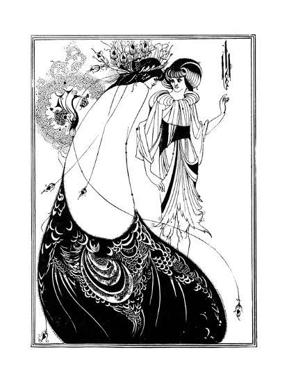 The Peacock Skirt-Aubrey Beardsley-Giclee Print