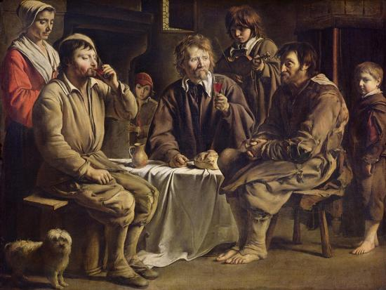 The Peasant's Meal, 1642-Louis Le Nain-Giclee Print