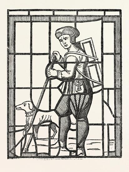 The Pedlar and His Dog, from a Window in Lambeth Church, London, UK--Giclee Print