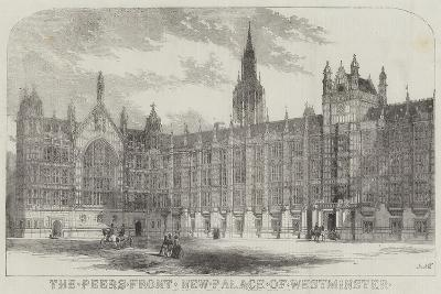 The Peers Front New Palace of Westminster--Giclee Print