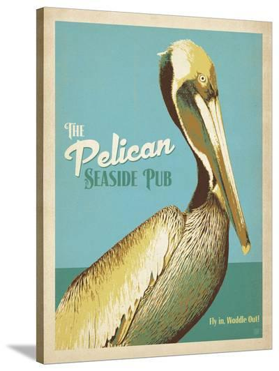 The Pelican Seaside Pub-Anderson Design Group-Stretched Canvas Print