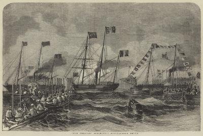 The Pelican Steam-Ship Approaching Dover--Giclee Print