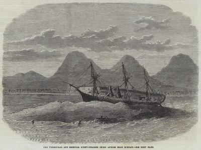 The Peninsular and Oriental Screw-Steamer Jeddo Ashore Near Bombay--Giclee Print
