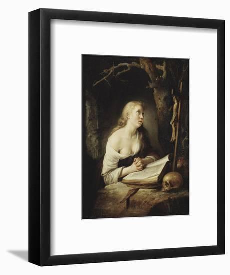 The Penitent Magdalen, c.1650-65-Gerrit or Gerard Dou-Framed Giclee Print