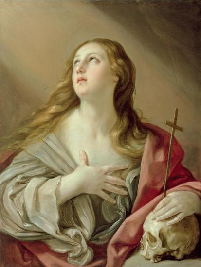 The Penitent Magdalene, C.1638-Guido Reni-Giclee Print