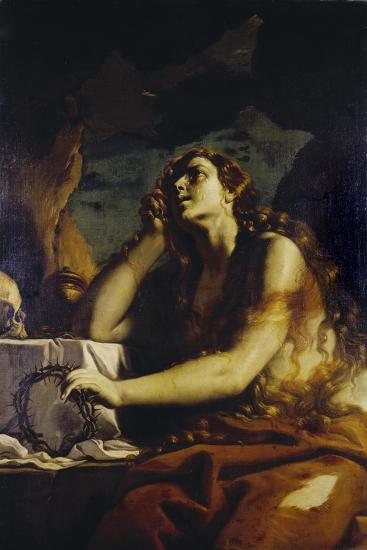 The Penitent Magdalene in the Grotto-Mattia Preti-Giclee Print