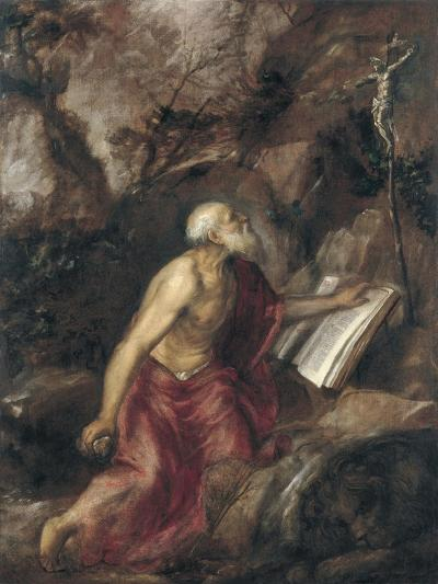 The Penitent Saint Jerome-Titian (Tiziano Vecelli)-Giclee Print