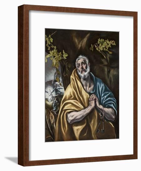 The Penitent Saint Peter, C.1590-95-El Greco-Framed Giclee Print