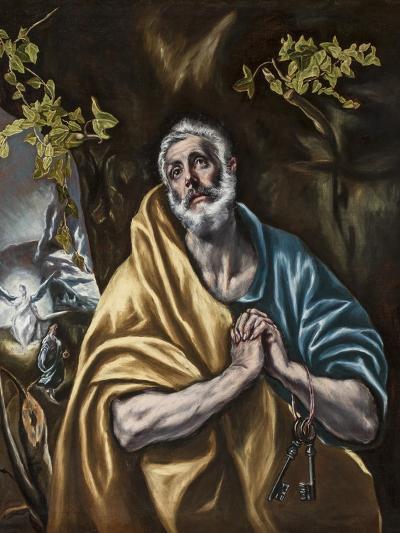 The Penitent Saint Peter, C.1590-95-El Greco-Giclee Print