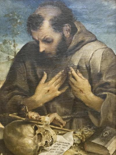The Penitent St Francis, C.1585-Annibale Carracci-Giclee Print