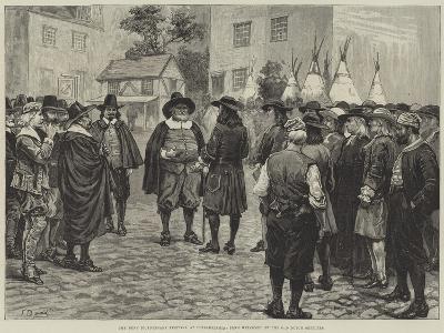 The Penn Bicentenary Festival at Philadelphia, Penn Welcomed by the Old Dutch Settlers-Frank Dadd-Giclee Print