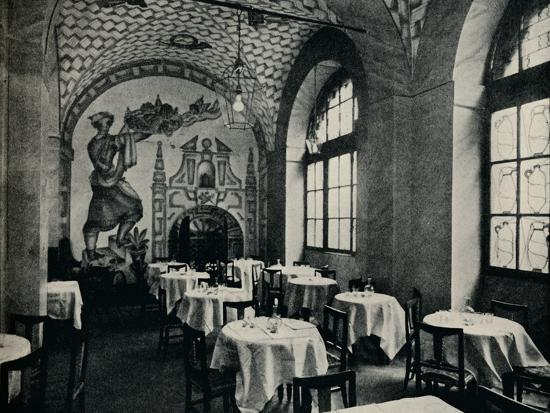 'The Penna D'Oca Restaurant, Main dining room', c1928-Unknown-Photographic Print