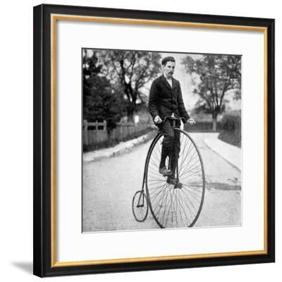The 'Penny Farthing' or 'Ordinary' Bicycle of the 1870's--Framed Photographic Print