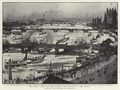 The Penny Fleet of the Thames, the Opening of the Season-Charles Edward Dixon-Giclee Print