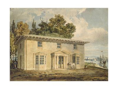 The Penrhyn Arms at Port Penrhyn, C. 1797 - 1798 (Watercolour with Pen and Brown Ink)-J^ M^ W^ Turner-Giclee Print