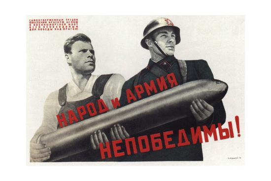 The People and the Army are Invincible!, 1941-Viktor Borisovich Koretsky-Giclee Print