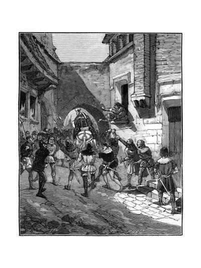 The People of Cambrai Revolt, and Drive Out their Bishop, 10th-13th Century (1882-188)-Spex-Giclee Print