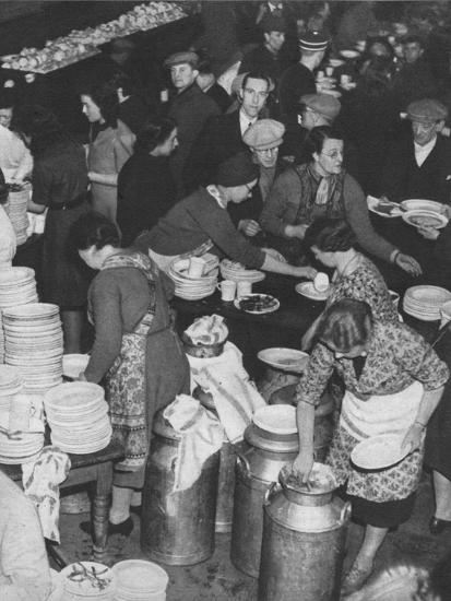 'The People Rally To The People's Need: Clydeside Feeds Its Homeless', 1941 (1942)-Unknown-Photographic Print