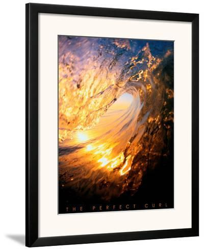The Perfect Curl--Framed Art Print