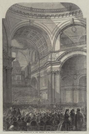 The Performance of the The Messiah in St Paul's Cathedral--Giclee Print