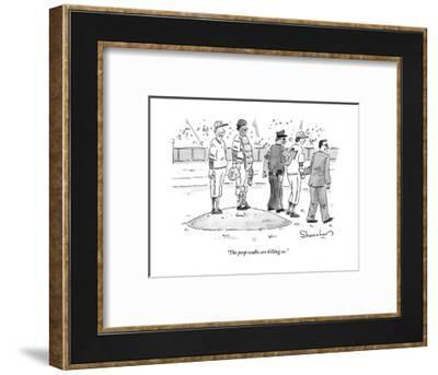 """The perp walks are killing us."" - New Yorker Cartoon-Danny Shanahan-Framed Premium Giclee Print"