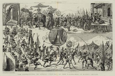 The Perraherra, or Annual Festival of the Singhalese at Kandy, Ceylon--Giclee Print