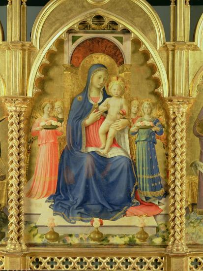 The Perugia Altarpiece, Central Panel Depicting the Madonna and Child-Fra Angelico-Giclee Print