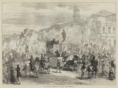 The Petrarch Celebration at Avignon, Grand Procession-Charles Robinson-Giclee Print