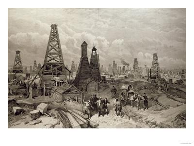 The Petroleum Oil Wells at Baku on the Caspian Sea, 19th June 1886--Giclee Print