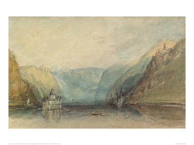 The Pfalz Near Kaub, 1817-J^ M^ W^ Turner-Giclee Print