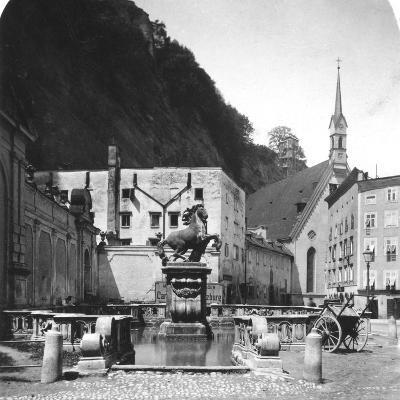 The Pferdeschwemme (Horse Wel), Salzburg, Austria, C1900s-Wurthle & Sons-Photographic Print