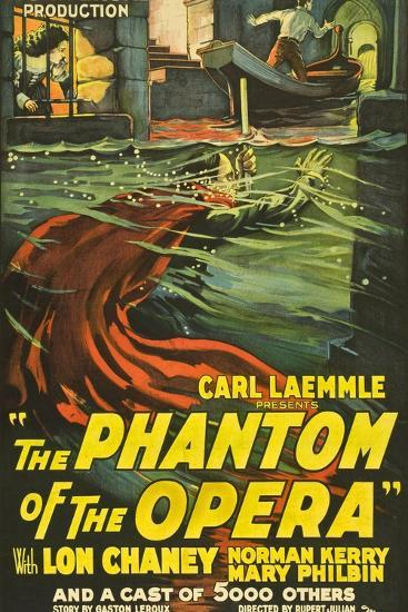 The Phantom of the Opera, 1925, Directed by Rupert Julian--Giclee Print