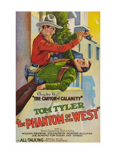 The Phantom of the West - Canyon of Calamity--Art Print