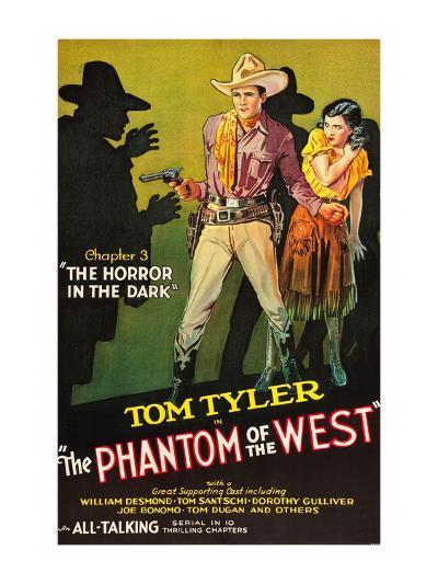 The Phantom of the West - Horror in the Dark--Art Print