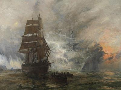 The Phantom Ship-William Lionel Wyllie-Giclee Print