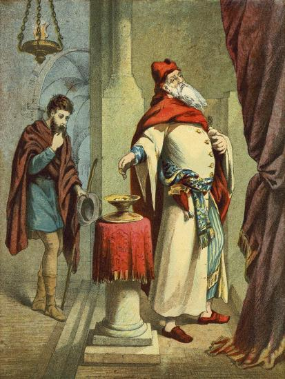 The Pharisee and the Publican--Giclee Print