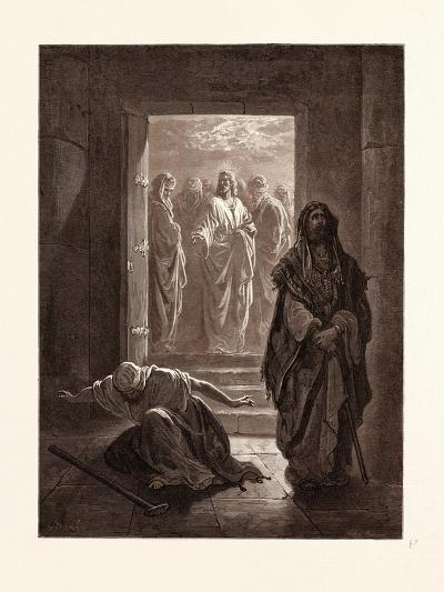 The Pharisee and the Publican-Gustave Dore-Giclee Print