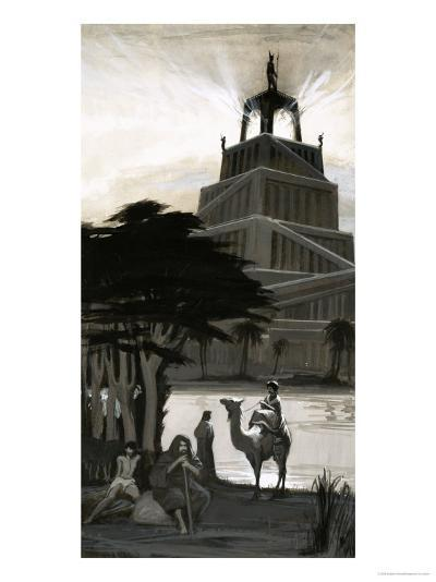 The Pharos Lighthouse at Alexandria--Giclee Print