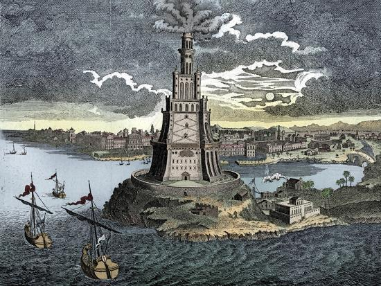 The Pharos of Alexandria, 18th century-Unknown-Giclee Print