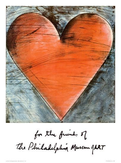 The Philadelphia Heart-Jim Dine-Art Print