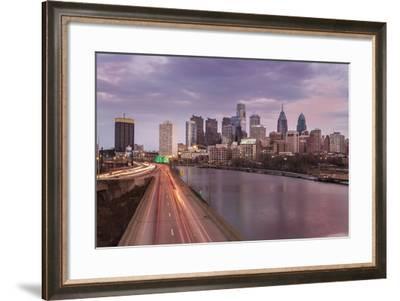 The Philadelphia Skyline from the South Street Bridge, 2014-Richard Nowitz-Framed Photographic Print