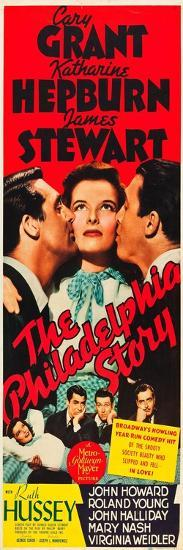 The Philadelphia Story, Cary Grant, Katharine Hepburn, James Stewart, 1940--Art Print