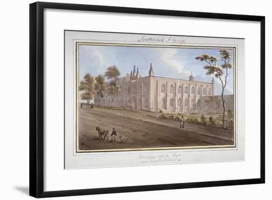 The Philanthropic Society Institution, Southwark, London, 1825-G Yates-Framed Giclee Print