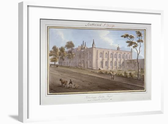 The Philanthropic Society Institution, Southwark, London, 1825-G Yates-Framed Giclee Print