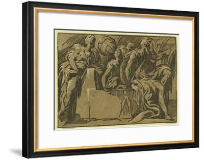 The Philosopher Diogenes and the Allegory of Astronomy--Framed Giclee Print